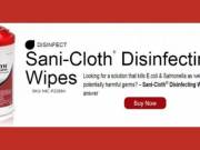 P22884 Sani-Cloth Disinfecting Surface Wipes 7 1/2 x 5 3/8 – 200 per Canister – 6 per Case