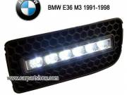 BMW E36 M3 DRL LED Daytime Running Lights Car headlight parts Fog lamp cover LED-618BM