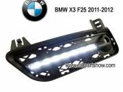 BMW X3 DRL LED Daytime Running Lights Car headlight parts Fog lamp cover LED-619BM
