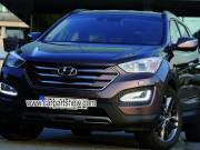 Hyundai IX45 Santa Fe DRL LED Daytime Running Lights Car headlight parts Fog lamp cover LED-144HY