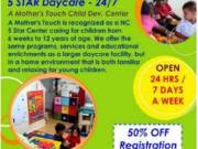 5 STAR Daycare- 24 Hrs/7 Days a Week