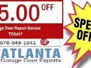 Coupon for Single Garage Door Installation Atlanta