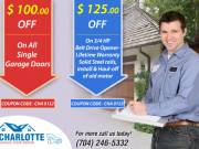 Fetch $ 100 Off on All Single Garage Doors in Alexis, North Carolina
