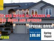 Garage Door Spring Repair Starting as low as $89.00 in Kansas City, MO