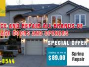 Garage Door Spring Repair Starting as low as $89.00 Columbus, OH