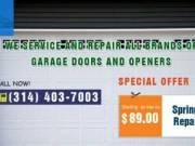 Garage Door Spring Repair starting as low as $89.00 in St. Louis