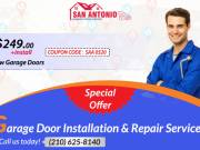 New Garage Doors starting as low as $249.00 with Installation in Bulverde, TX