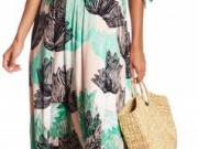 Rachel Pally Maternity Long Caftan Print Dress