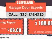 Garage Door Spring Repair at $89 in Cleveland, OH
