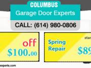 Garage Door Spring Repair at $89 in Columbus, OH