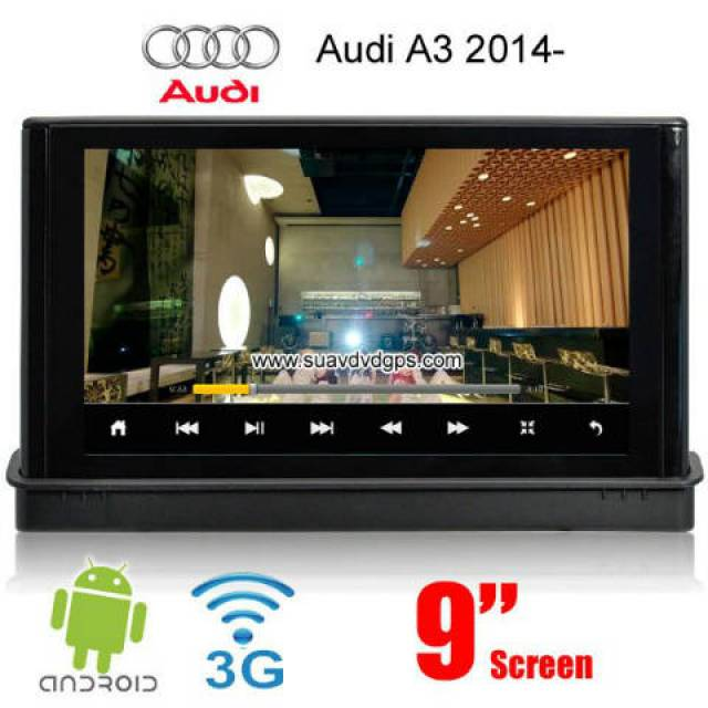 Audi A3 9inch car radio update android wifi 3G GPS Apple CarPlay