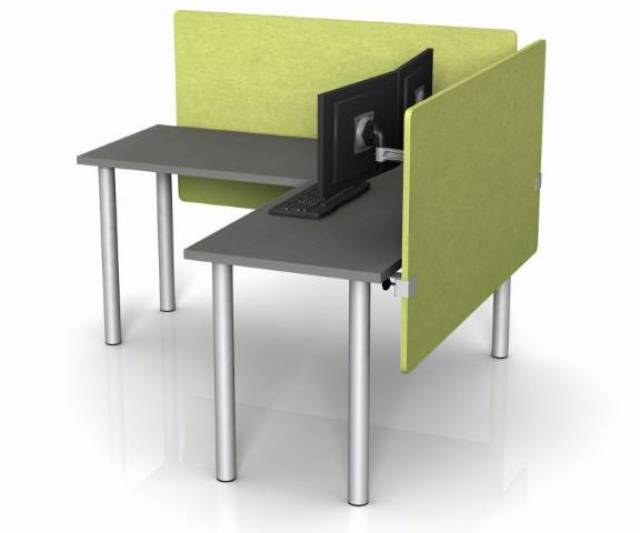 Buy Desktop Privacy Panels U0026 Soundproof EchoScape™ Desk Dividers For Offices