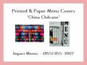Printed Menu Covers | Paper Menu Covers | Colored Menu Covers | Impact Menus