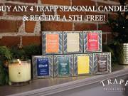 Buy any 4 Trapp Seasonal Candles and Get 1 FREE