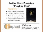 Leather Check Presenters (Playboy Club) By Impact Menus