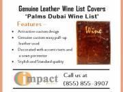 Genuine Leather Wine List Covers By Impact Menus