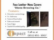 Best Faux Leather Custom Menu Covers By Impact Menus