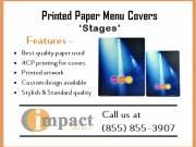 Printed Paper Menu Covers By Impact Menus