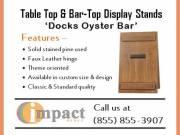 Table-top & Bar-top Display Stands By Impact Menus
