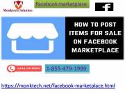 Knock a post on Facebook marketplace center? Call 1-855-479-1999 for help