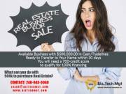 Real estate business for sale