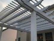 Patio Pergolas Freestanding or Attached. Aluminum, Vinyl or plastic lumber. Vinyl Products