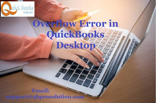 Quick and Effective Ways to solve Overflow Error in QuickBooks