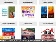 Online Custom Banners | Best Quality Vinyl Banners | 219signs.com