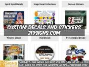 Best Custom Decals and Stickers | 219signs.com