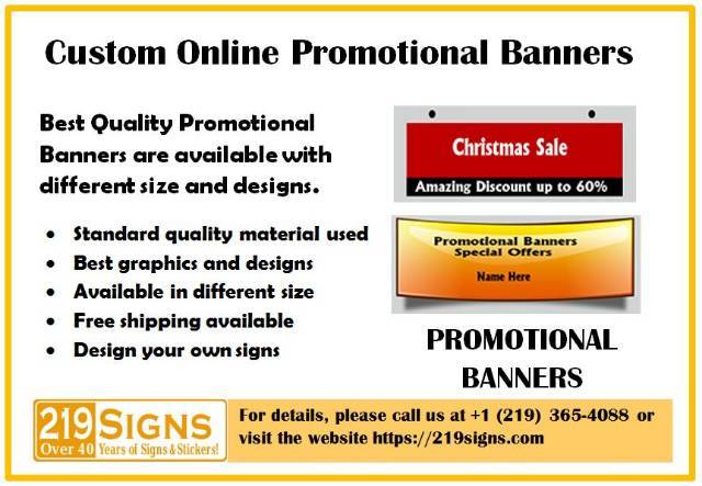 Best Quality Vinyl Promotional Banners | 219signs com