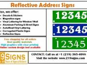 Reflective Address Markers | 219signs