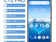 Black Oukitel C12 Pro 4G Smartphone Android 8.1 Quad Core 2GB RAM 16GB ROM