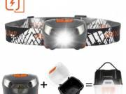 IdealHouse Rechargeable LED Headlamp Flashlight