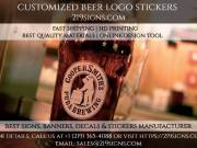 Best Customized Beer Logo Stickers | 219signs.com