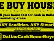 Sell us your house for cash in Dallas Texas
