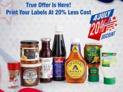 True Offer Is Here! Print Your Labels At A 20% Less Cost