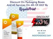 Wait! 20% Off On Packaging Boxes And All Services On 4th Of July By RegaloPrint