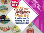 Grab 20% Discount On Labeling On This Thanksgiving Day   RegaloPrint