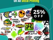 Never Offered Before! 25% Discount On All Decals Printing - RegaloPrint