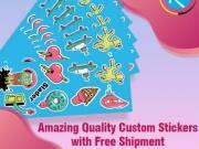 Amazing Quality Custom Stickers with Free Shipment – RegaloPrint