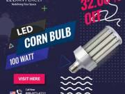 Install IP64 Rated 100 Watt LED Corn Bulb At The Outdoor Areas