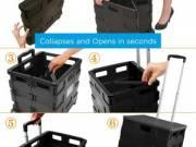 Collapsible storage crate black| Affordable prices| Organizeme