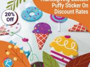 Amazing Happy Thanksgiving Custom Puffy Stickers On Discount Rates – RegaloPrint