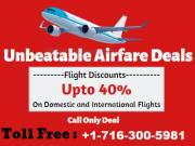 + 1-716-300-5981  Make Your Flight Cheap 50% Off with SkyFarez