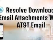 Resolve Download Email Attachments With AT&T Email