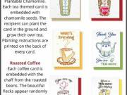 New Gourmet Java & Tea Plantable Greeting Cards!
