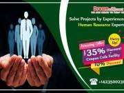 Solve Projects by Experienced Human Resource Experts